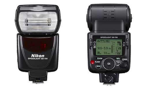 Nikon SB-700 AF Speedlight front and back
