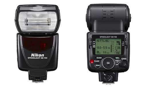 Nikon SB-700 AF Speedlight front and back