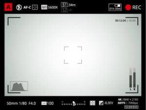 dslr camera viewfinder - exposure control