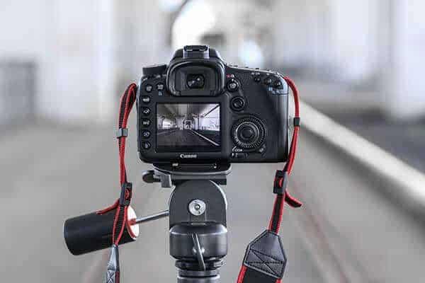 digital camera rear on tripod