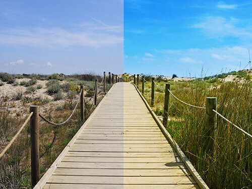 photo editing split image