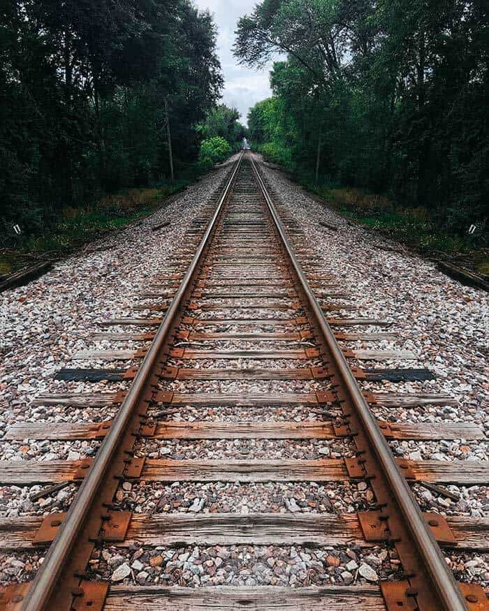 Photoshop Channel Mixer train tracks