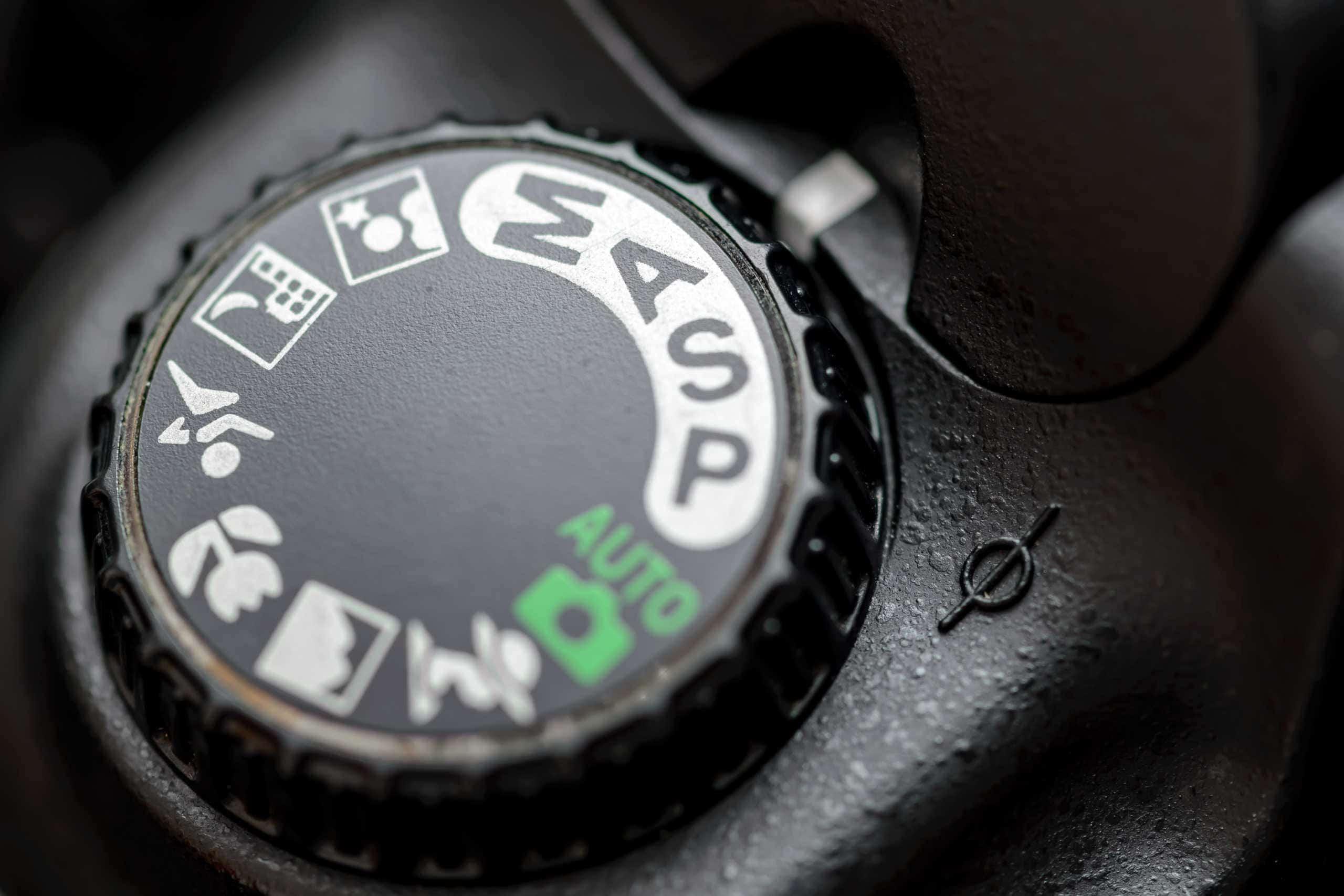 nikon camera on the aperture priority mode