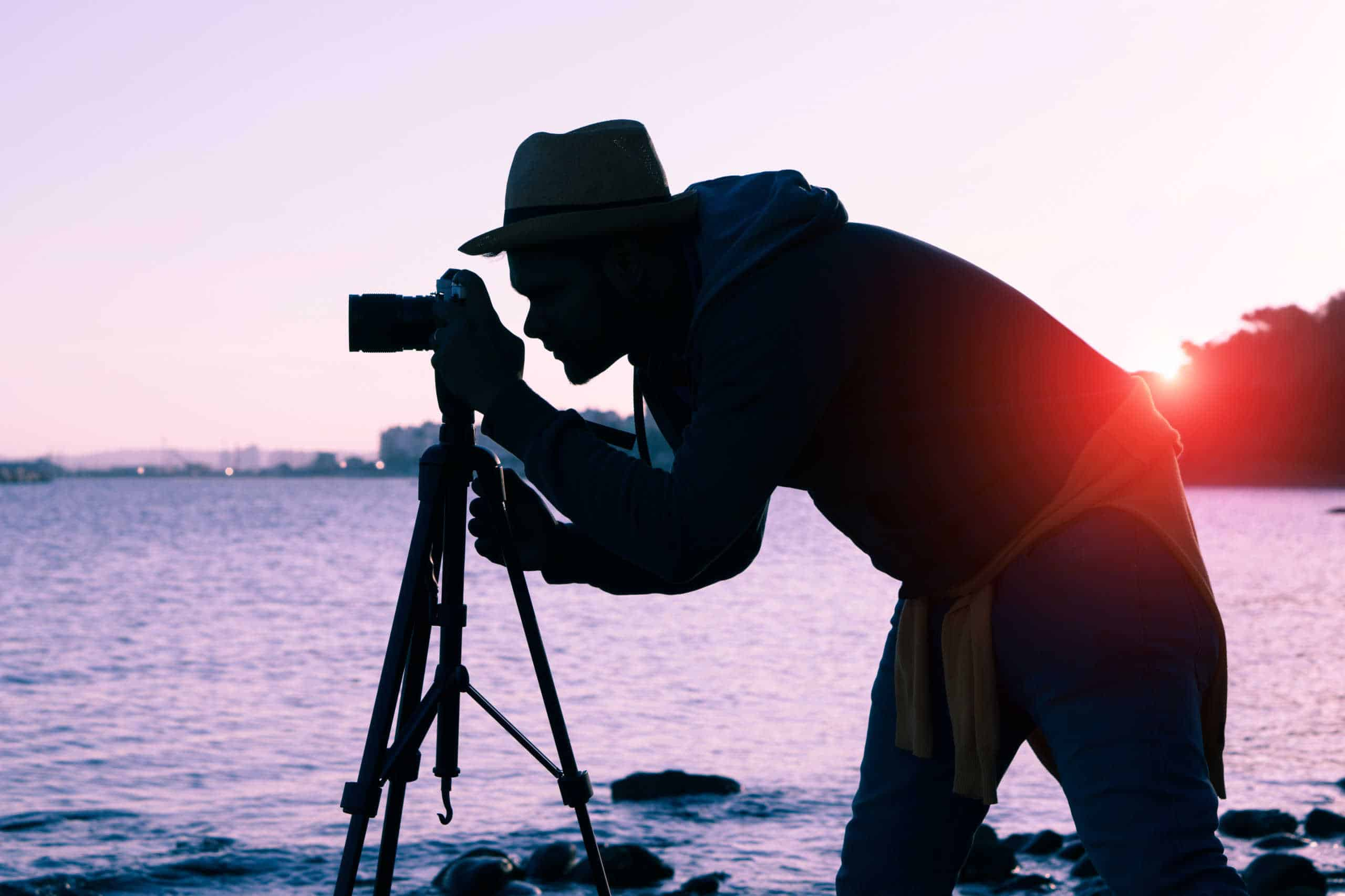 photographer using shutter speed priority for low light
