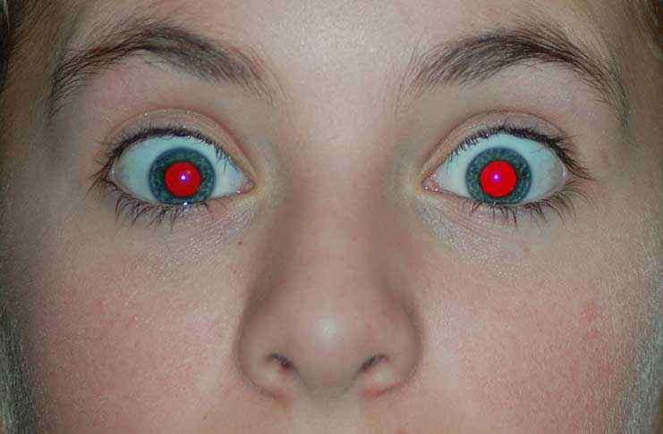 how to avoid or remove red eye photography course