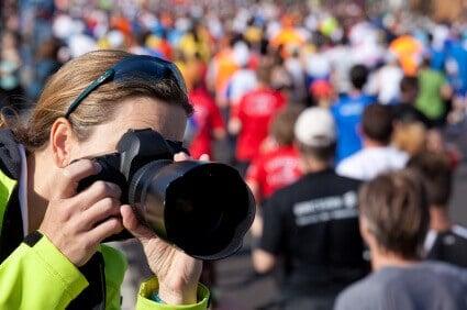 Photographing at Marathon