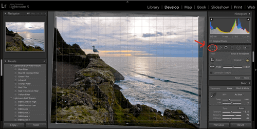 Leveling a Photo in Lightroom