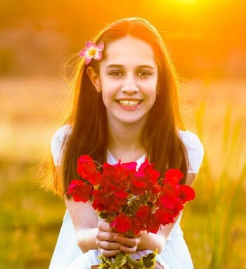 Outdoor Portraits - photo Flower Girl by Rex Boggs