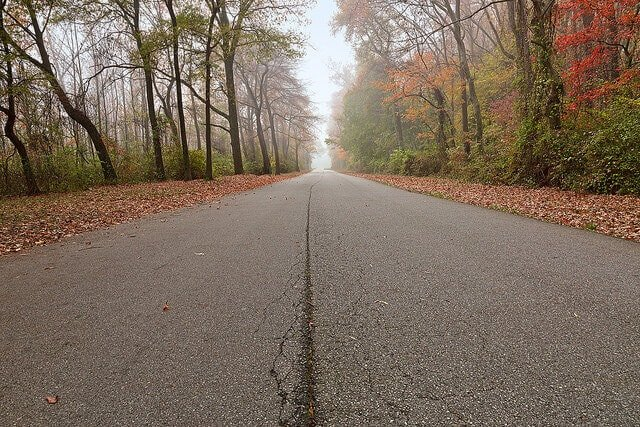 Misty Fall Road - HDR