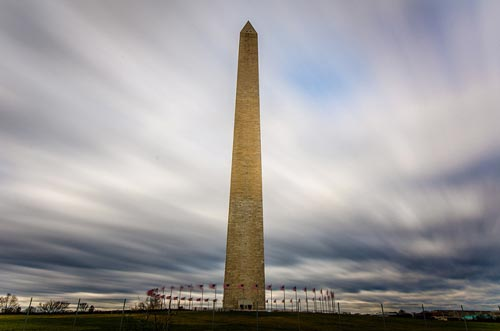 Neutral Density Filter - Photo Washington Monument - Daytime Long Exposure by m01229