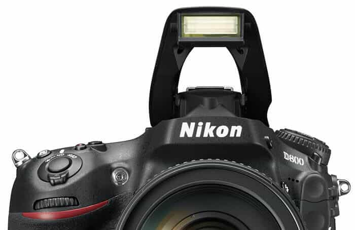 Nikon DSLR with pop-up flash