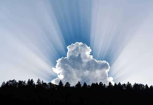 Cloud Photography bright rays