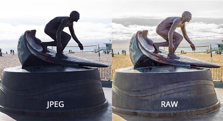 RAW vs JPEG image comparison