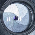 lens aperture closeup