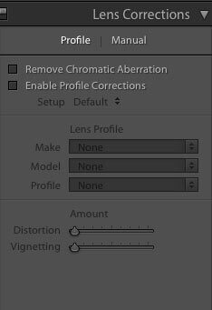 Post Production in Lightroom - Lens Correction