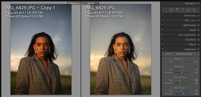 Post Production in - Lightroom calibration