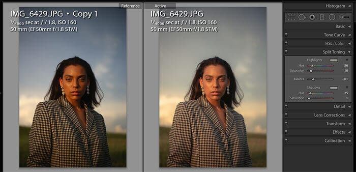 Post Production in Lightroom - split toning