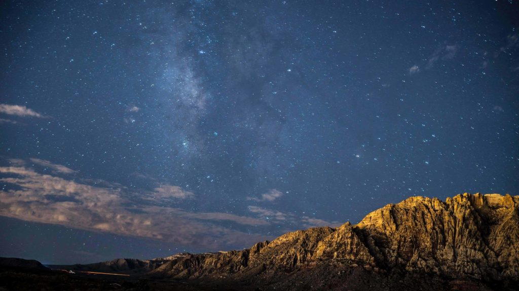 Long exposure photo of sky